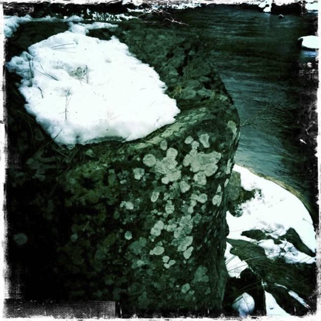 Snow-capped Granite Boulder - Hipstmatic