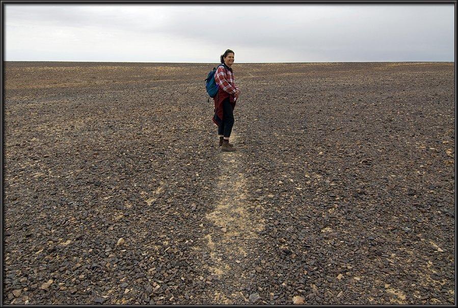 Hiking the plateau of Mt. Karkom