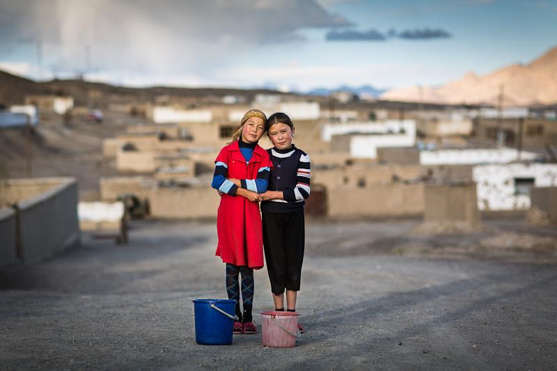 Two Kyrgyz girls - Tajikistan