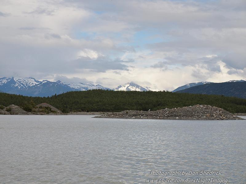 Lake at the base of Davidson Glacier