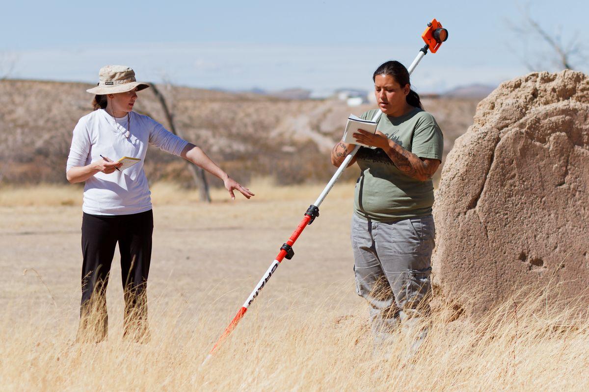 Erin Schmidt and Sahrah Bliss (Archaeology mapping class)