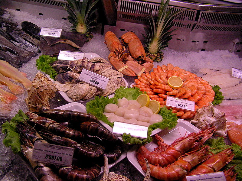 Moscow supermarket fresh fish1.JPG