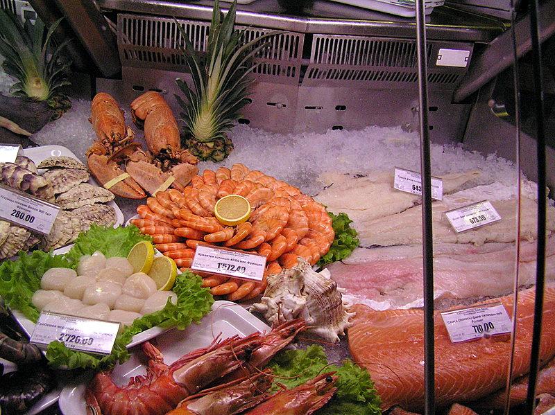 Moscow supermarket fresh fish2.JPG
