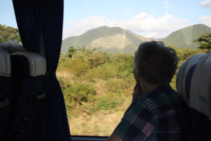 Heading east into the mountains of Pinar del Rio Province