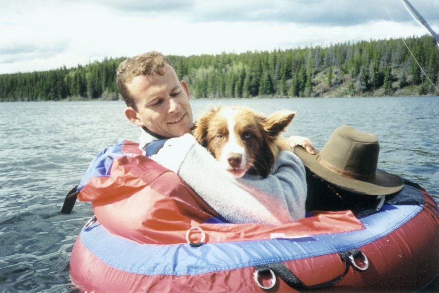 float tube fishing with Derby