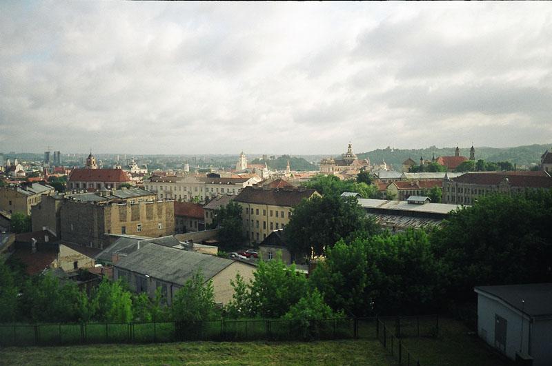 Vilnius - panorama view from Gintaras Hotel