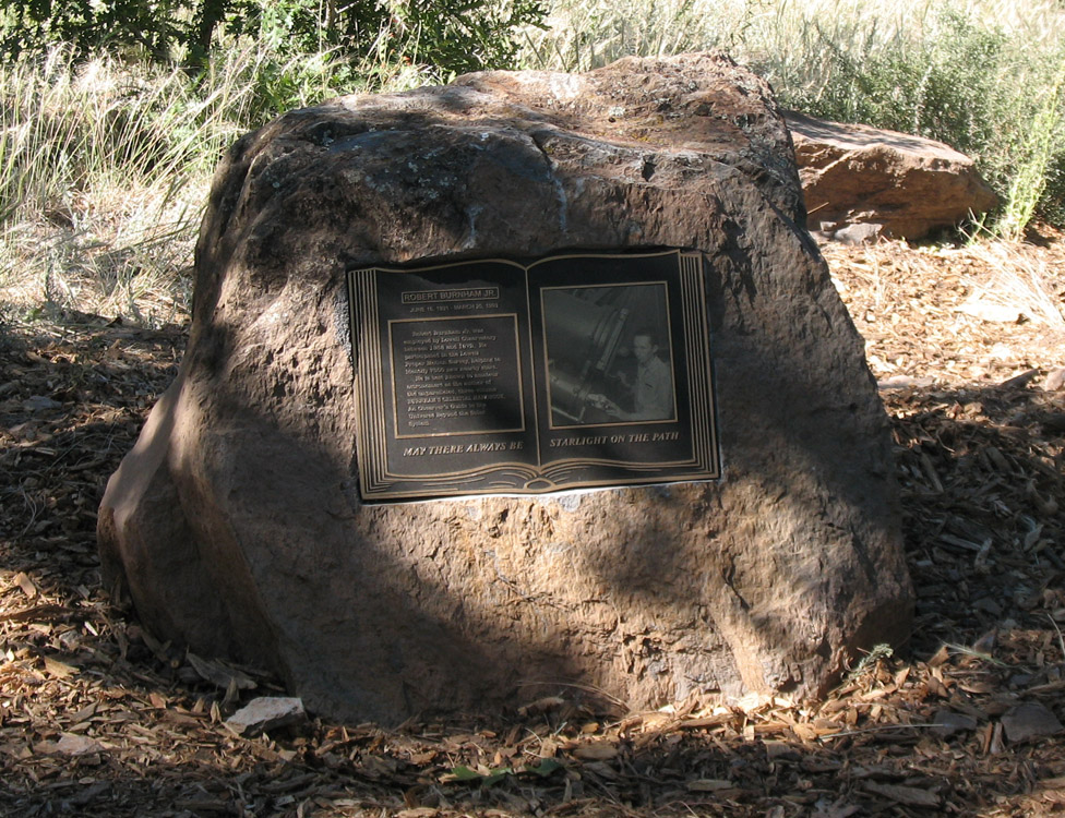 Robert Burnham Jr. Monument at Lowell Observatory. (unveiling photos courtesy of C&K Hanrahan)