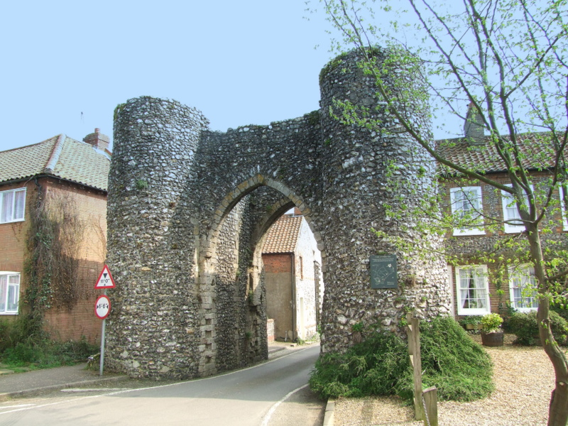 Castle Acre , the Bailey Gate.