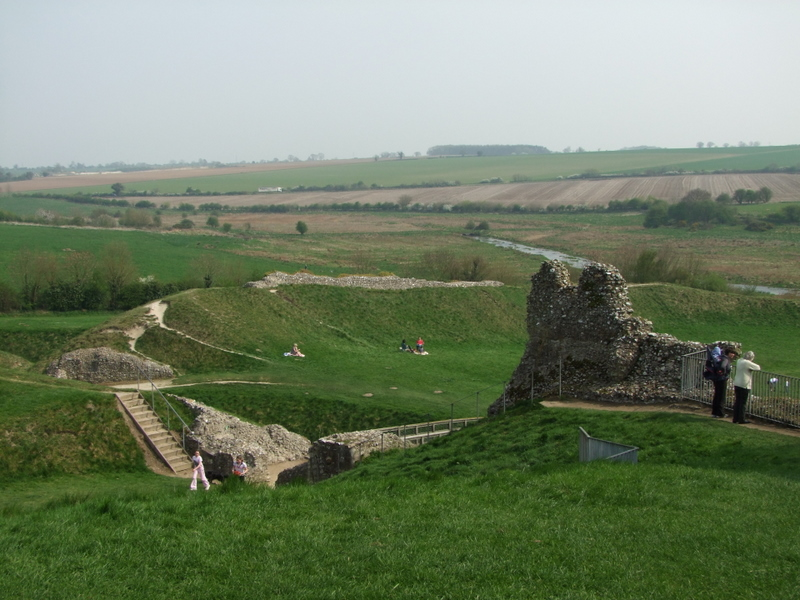 Castle Acre Castle;the view from the motte,looking east.