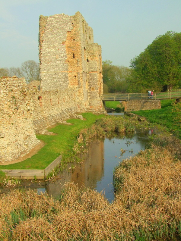 Baconsthorpe Castle,the gatehouse reflected in the moat