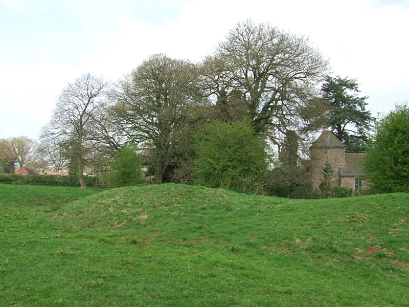 Leysters motte,with dry moat.