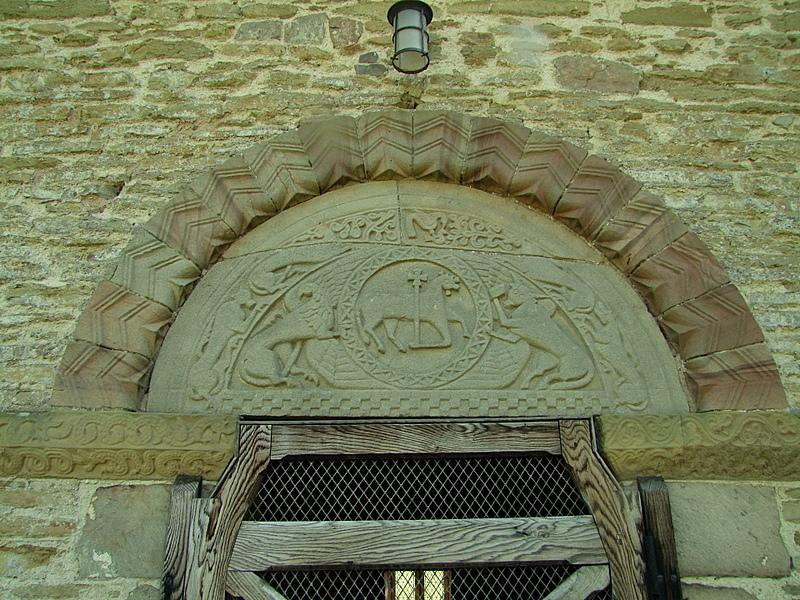 The tympanum,St.Giles church,Pipe Aston.