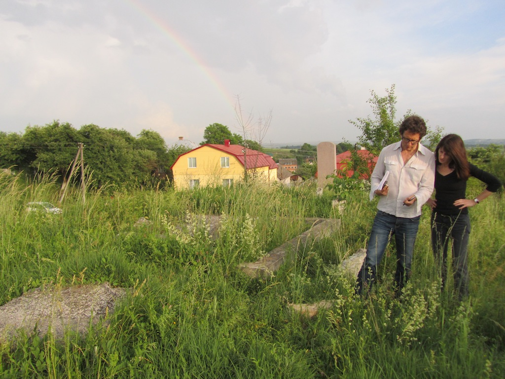 at the old Jewish cemetery, after a light rain