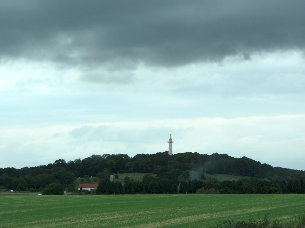 in the distance, the Montfaucon monument