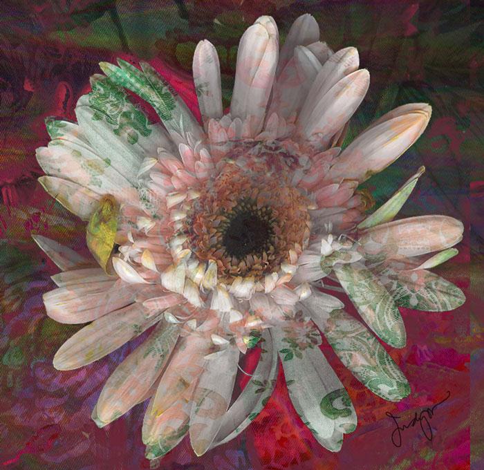 patterned flower