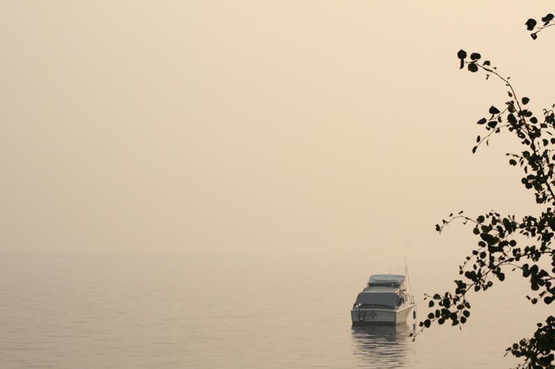 Binta Lake fire smoke