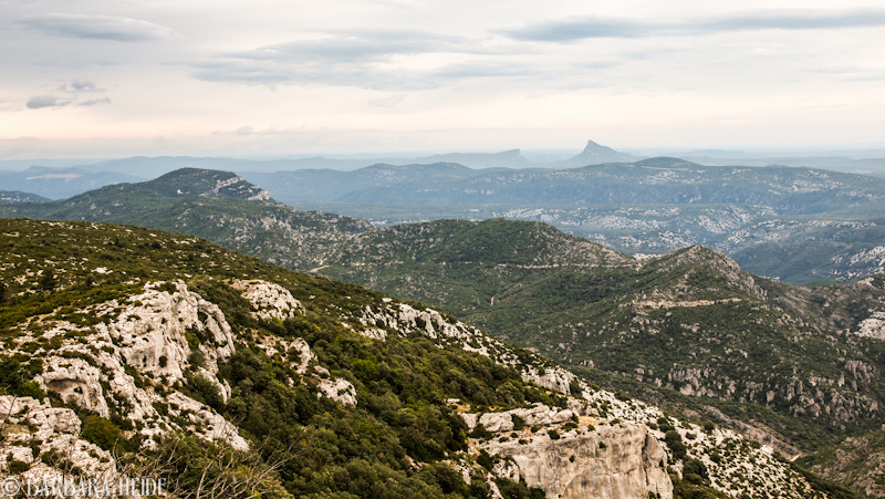 Pic Saint Loup seen from Mont Saint Baudile