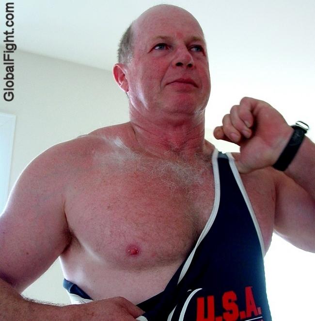 wrestling singlet daddy wearing manly gear photos.jpg