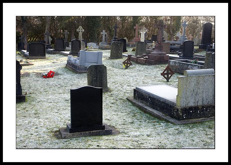 Frosty graveyard