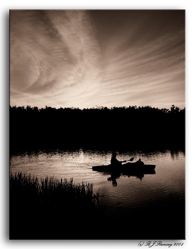 Sunset on Lake Jean