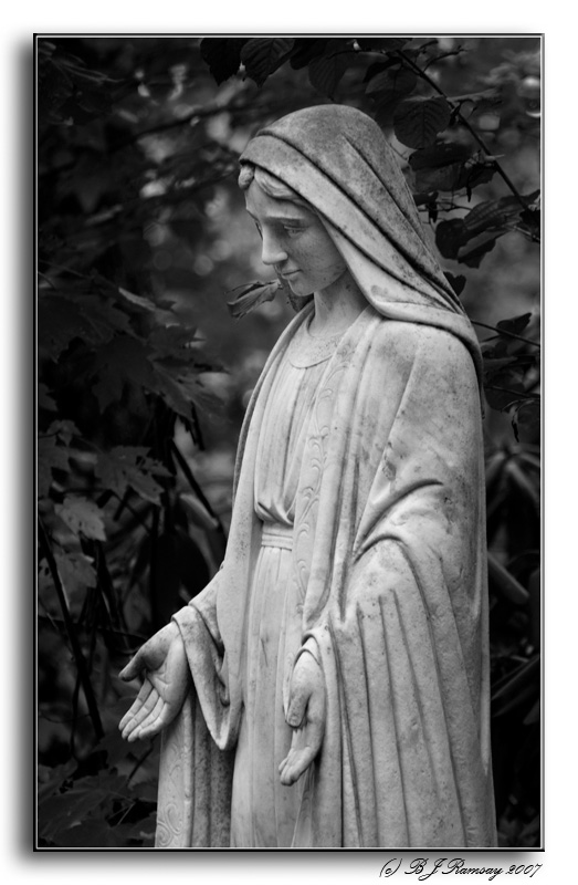 Statue in the Grotto of Lourdes