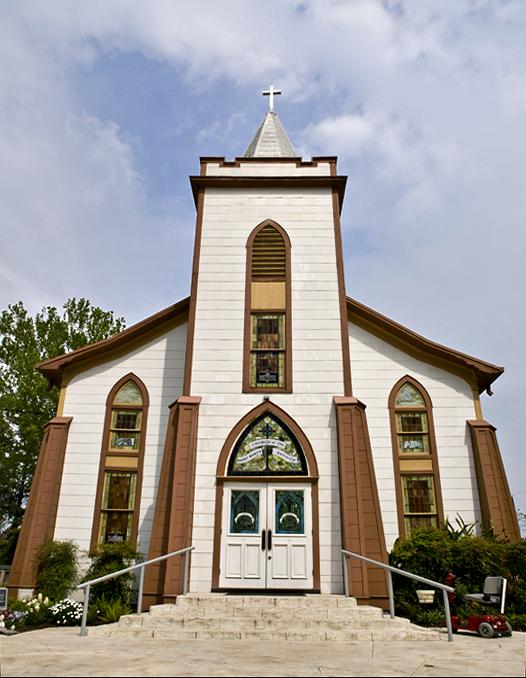 St. Marys, a painted church near Plantersville, TX