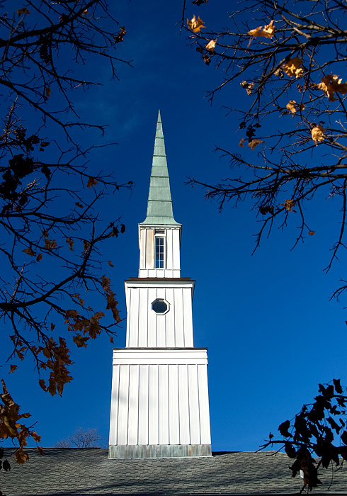 Tall steeple, Lake Forest, IL.