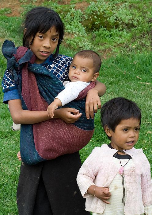 Tzotzil Maya children in Zinacantán