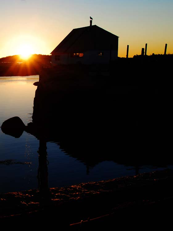 Sunrise Sillouettes at Stonington Harbor