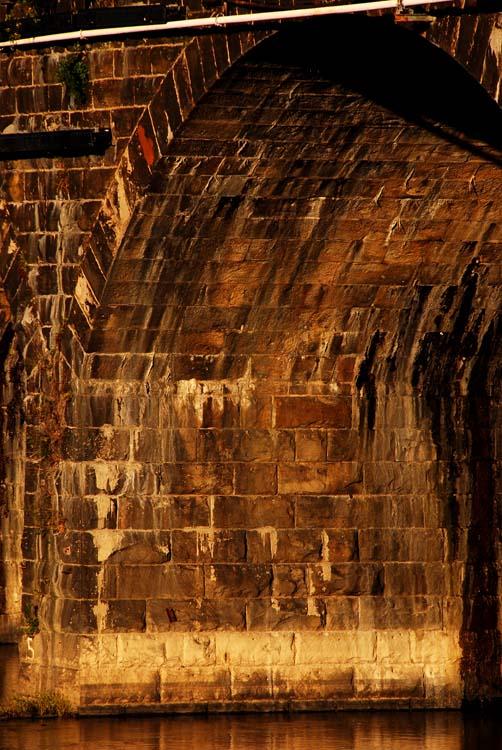 Down to the Bricks of the Rockville Bridge