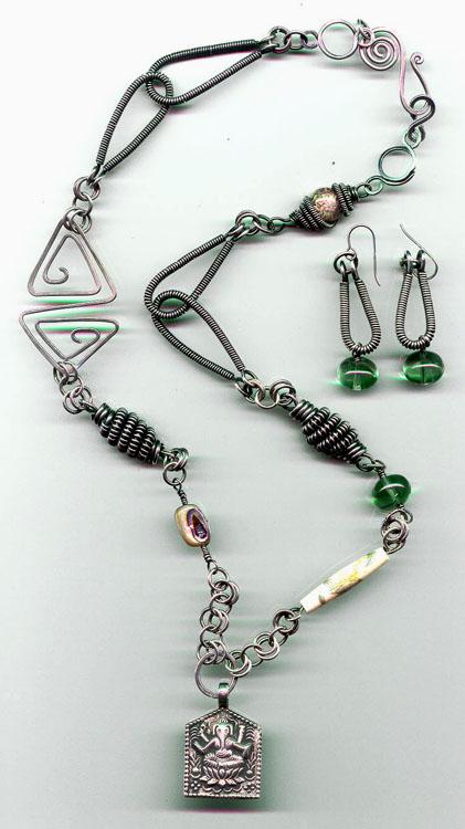 Ganish Fluorite Necklace Set.jpg