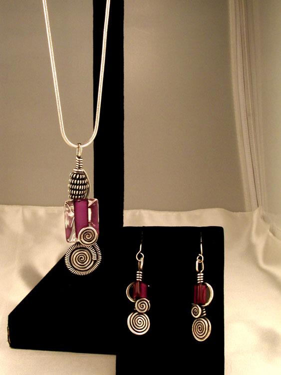 Purple Furnace Glass Bead Pendant