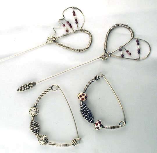 Solid Silver Wirewrap Pins
