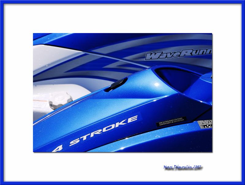 Blue jet ski, Porquerolles