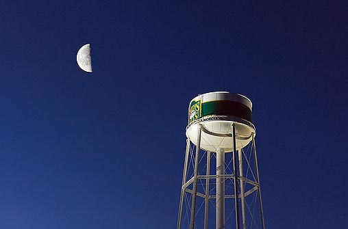 Moon & Water Tower 20110326
