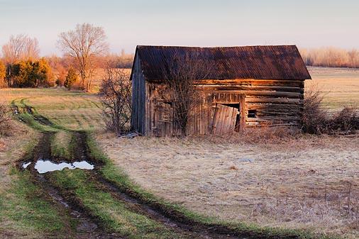 Old Barn At Sunrise 20110412