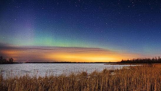 Aurora Beyond Clouds 20120307