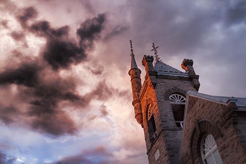 Church Tower At Sunrise 24667