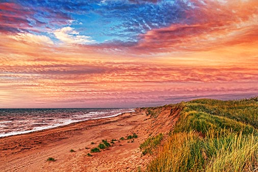 Skinners Pond Dunes At Sunset 27285
