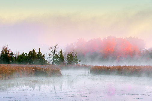 Misty Otter Creek At Sunrise 29172