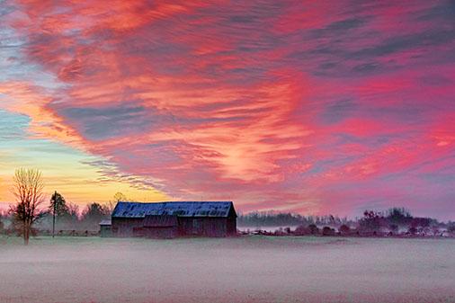 Barn At Sunrise 30036-7