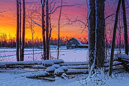 Winterscape Sunrise 20121226