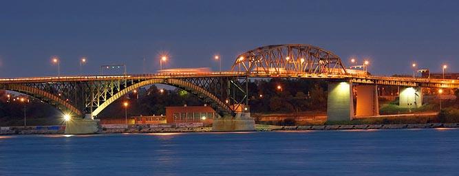 Peace Bridge At Twilight 69305