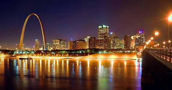 Saint Louis Night Skyline 20071029