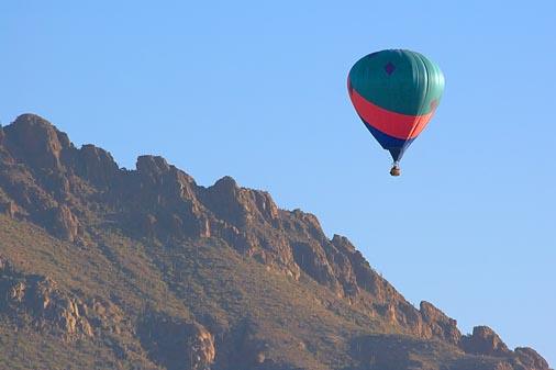 Hot Air Balloon Above A Mountain 20071123