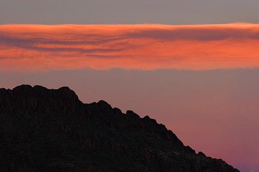 Sunset Cloud Over A Mountain 76033