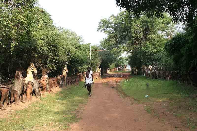Hundreds of terracotta horses and elephants in Namana Samudram. http://www.blurb.com/books/3782738