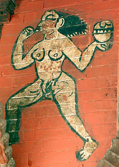 Painting at Pashupatinath temple, Nepal.