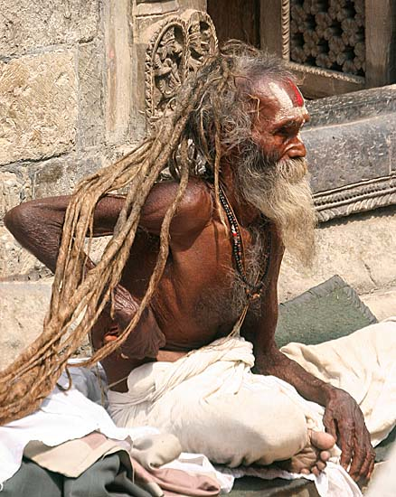 Saddhu at Pashupatinath, Nepal.