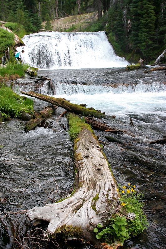 Falls on the way to Green Lake